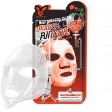 Тканевая маска красный женьшень   Deep Power Ringer Mask Pack Red Ginseng   Elizavecca