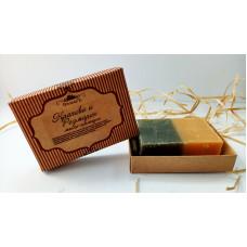 Натуральное мыло-шампунь  КРАПИВА И РОЗМАРИН  укрепление, нормализация работы сальных желез, против перхоти (подарочная упаковка)  100g СпивакЪ